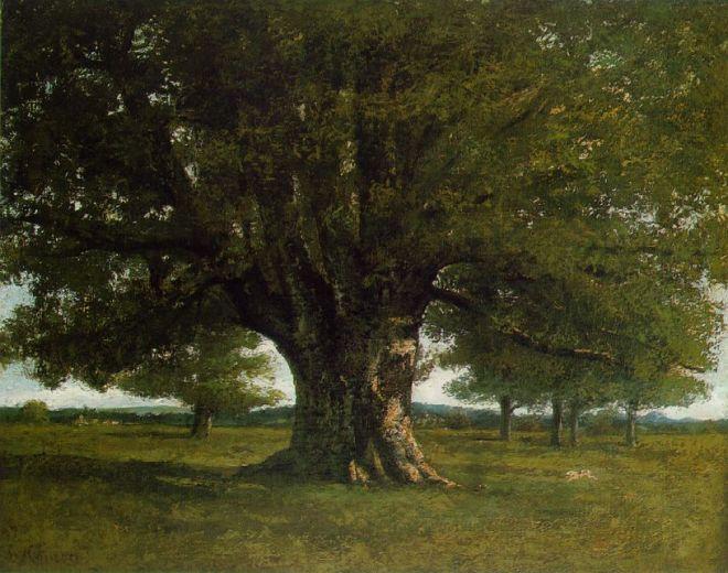 Le chêne de Flagey pinxit Gustave Courbet ( 1819-1877)